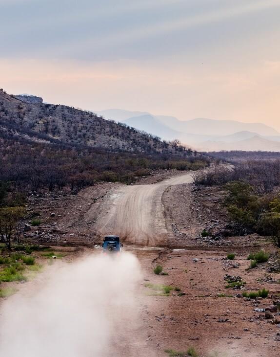 Staubige Straßen Namibias